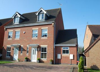 Thumbnail 4 bed semi-detached house for sale in Melody Drive, Sileby, Leicestershire