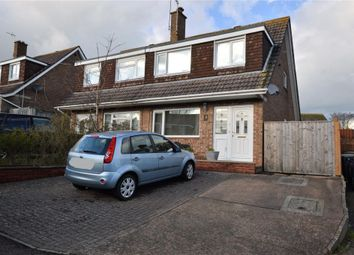 Thumbnail 3 bed semi-detached house for sale in Spencer Close, Exmouth, Devon