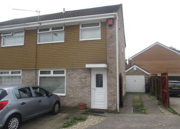 Thumbnail 4 bedroom semi-detached house for sale in Epsom Close, Lower Ely, Cardiff