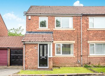 Thumbnail 3 bedroom semi-detached house for sale in Milecastle Court, West Denton, Newcastle Upon Tyne