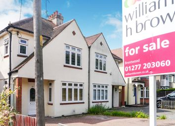 Thumbnail 3 bedroom semi-detached house for sale in Rayleigh Road, Hutton, Brentwood