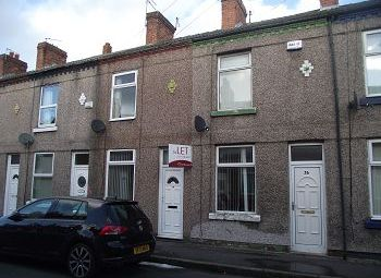 Thumbnail 2 bed terraced house to rent in Napier Road, New Ferry