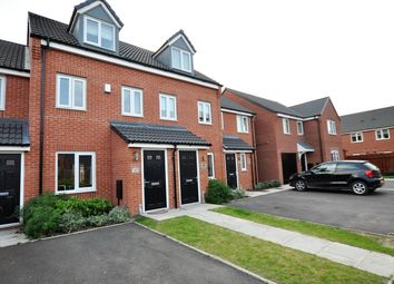 Thumbnail 3 bed town house for sale in Metcalfe Close, Stretton, Burton-On-Trent