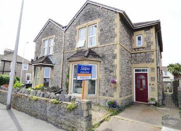 Thumbnail 4 bed semi-detached house for sale in Ellenborough Gardens, Whitecross Road, Weston-Super-Mare