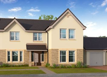 Thumbnail 4 bed detached house for sale in Cawburn Road, Uphall Station