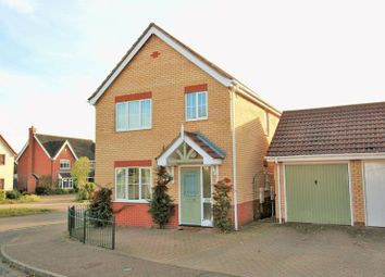 Thumbnail 3 bed detached house for sale in Mallow Way, Wymondham