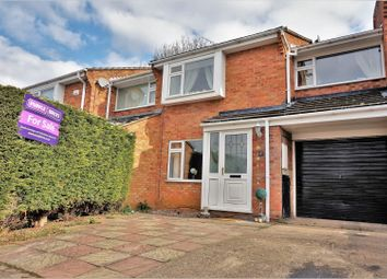 Thumbnail 3 bed town house for sale in Caldecott Close, Wigston