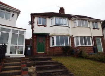 Thumbnail 3 bed semi-detached house for sale in Widney Avenue, Birmingham, West Midlands