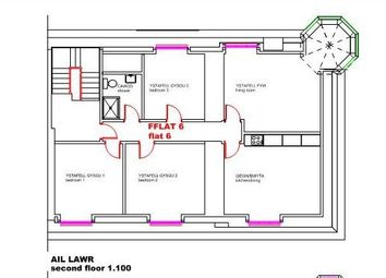 Thumbnail 3 bed flat for sale in Laura Place, Aberystwyth