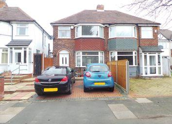 Thumbnail 3 bed semi-detached house for sale in Edgemond Avenue, Birmingham