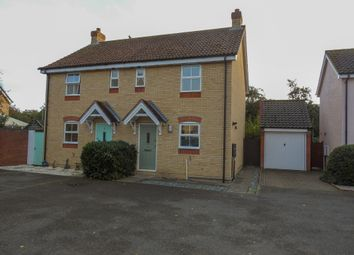 Thumbnail 2 bed semi-detached house for sale in Cooper Close, Saxmundham, Suffolk