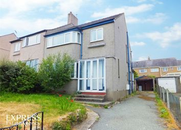 Thumbnail 3 bed semi-detached house for sale in Belmont Road, Bangor, Gwynedd