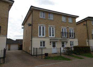 Thumbnail 4 bed town house to rent in Marius Crescent, Hampton Hargate, Peterborough