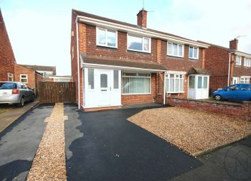 Thumbnail 3 bed semi-detached house for sale in Flamingo Close, Darlington