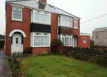 Thumbnail 3 bed semi-detached house for sale in Heol Fach, North Cornelly, Bridgend