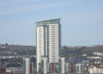 Thumbnail 2 bed flat to rent in Meridian Tower, Meridian Quay, Swansea