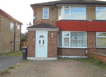 Thumbnail 4 bed semi-detached house to rent in Vernon Road, Feltham