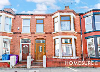 Thumbnail 3 bed terraced house for sale in Claremont Road, Wavertree, Liverpool