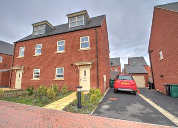 Thumbnail 3 bed semi-detached house for sale in Hickory Grove, Midway, Swadlincote