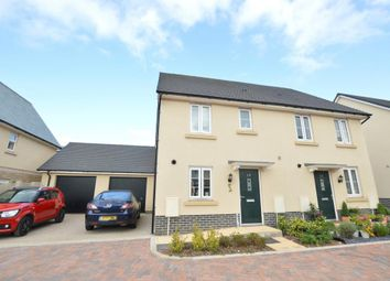 Thumbnail 3 bed semi-detached house for sale in Baron Way, Newton Abbot, Devon