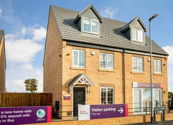 "Thumbnail 3 bed semi-detached house for sale in ""The Braxton - Plot 27"" at Stumpcross Lane, Pontefract"