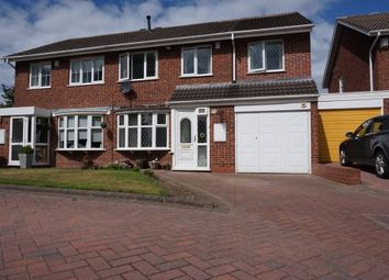 Thumbnail 4 bed semi-detached house for sale in Moreland Croft, Minworth, Sutton Coldfield