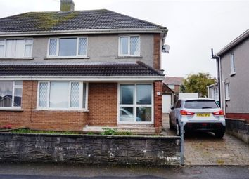 Thumbnail 3 bed semi-detached house for sale in Heol Maendy, North Cornelly, Bridgend