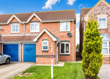 Thumbnail 3 bed semi-detached house for sale in Whittle Close, Wyberton, Boston