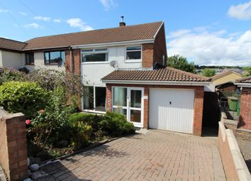 Thumbnail 3 bed semi-detached house for sale in Glenview Court, Newbridge, Newport