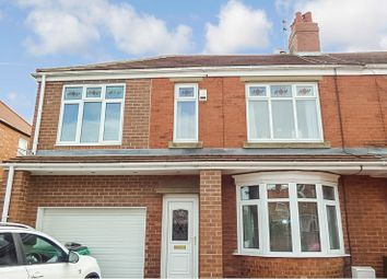 Thumbnail 4 bed semi-detached house for sale in Stakeford Crescent, Stakeford, Choppington
