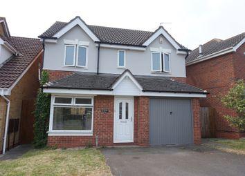 Thumbnail 4 bed detached house for sale in Framlingham Road, Park Farm, Peterborough