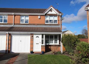 Thumbnail 3 bed semi-detached house for sale in Carlby Way, Northburn Dale, Cramlington