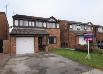 Thumbnail 4 bed detached house for sale in Wharton Close, Saughall Massie