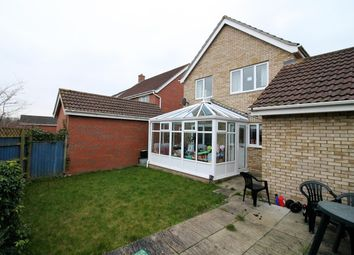 Thumbnail 3 bed detached house for sale in Tizzick Close, Norwich