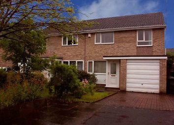 Thumbnail 3 bed semi-detached house for sale in Faversham Court, Kingston Park, Newcastle Upon Tyne