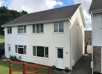 Thumbnail 3 bed semi-detached house to rent in Lowertown Close, Landrake, Saltash, Cornwall