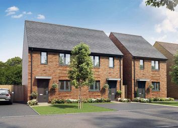 "Thumbnail 2 bed end terrace house for sale in ""The Dunnock - Plot 136"" at Cheesemans Green Lane, Kingsnorth, Ashford"