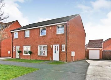 Thumbnail 3 bed semi-detached house for sale in Skerne Way, Darlington, Co Durham