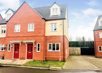 Thumbnail 3 bedroom semi-detached house for sale in Lockley Gardens, Sapcote, Leicester