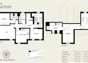 Thumbnail 3 bed flat for sale in Piper House, The Maltings, Newmarket