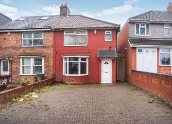 Thumbnail 3 bed semi-detached house for sale in Hob Moor Road, Birmingham