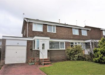 Thumbnail 3 bed semi-detached house for sale in Farnborough Close, Cramlington