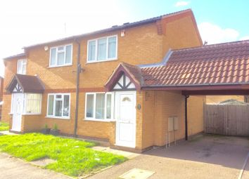 Thumbnail 2 bed semi-detached house to rent in Moorland Road, Syston, Leicester