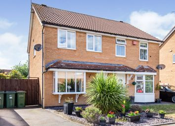 Thumbnail 3 bed semi-detached house for sale in Bracken Close, Leicester Forest East, Leicester