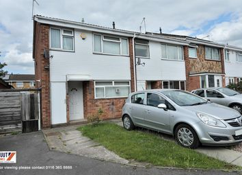 Thumbnail 3 bed end terrace house for sale in Birch Close, Leicester