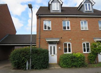 Thumbnail 3 bed semi-detached house for sale in Hopton Grove, Newport Pagnell