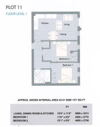 Thumbnail 2 bed flat to rent in Walton Court Centre, Hannon Road, Aylesbury