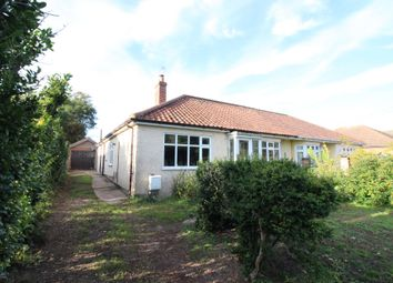 Thumbnail 3 bed semi-detached bungalow for sale in Fakenham Road, Taverham, Norwich
