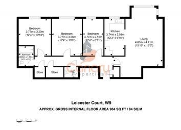 3 bed flat for sale in Leicester Court, Elmfield Way, Maida Vale, London W9