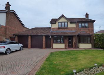 Thumbnail 4 bed detached house for sale in Orpine Court, Ashington